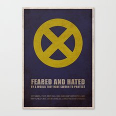 X-Men (Super Minimalist series) Canvas Print