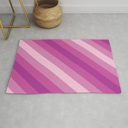 Purple and Pink Stripes Rug