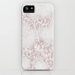 Marble Pattern Silver Rosé iPhone Case