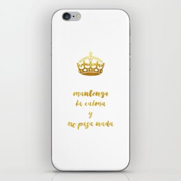 Mantenga La Calma | Keep Calm and Carry On iPhone Skin