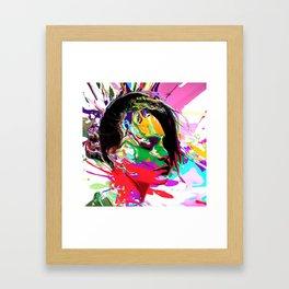 Stamped Brushes Framed Art Print