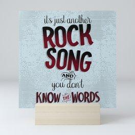 Rock Song Mini Art Print