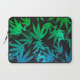 Leafy Blues Royal Stain Laptop Sleeve