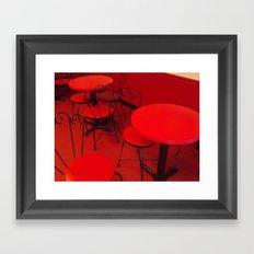 An Ice Cream Red Framed Art Print