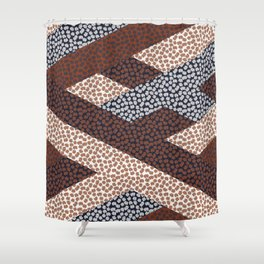 Patched Abstract Floral I Shower Curtain