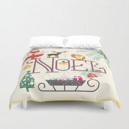 Christmas Noel Duvet Cover