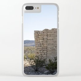 Terlingua Texas II Clear iPhone Case