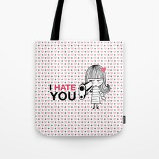 I Hate You / Gun Tote Bag