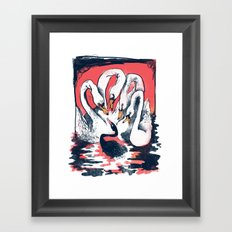 The Black Swan Framed Art Print