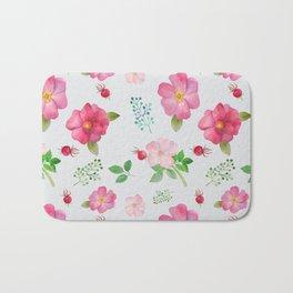 Rosehip Spring Garden Floral Pattern Bath Mat