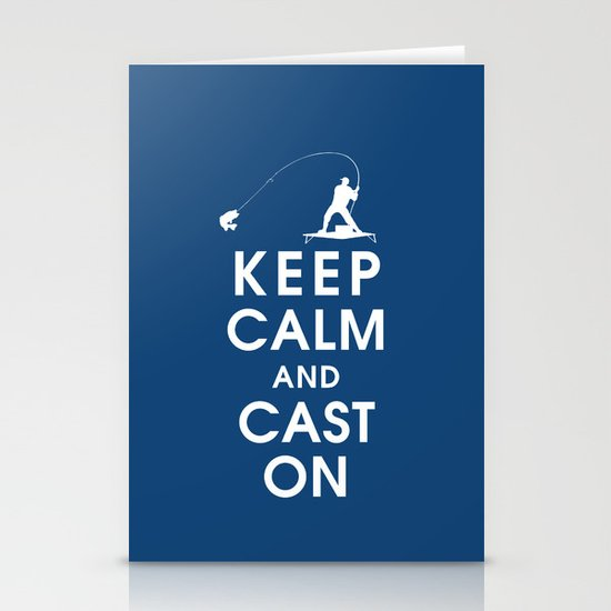 Keep Calm and Cast On Stationery Cards