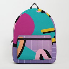 Memphis Pattern 10 - 90s - Retro Backpack
