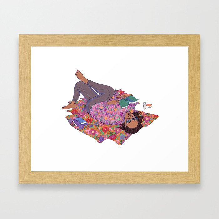 me time Framed Art Print