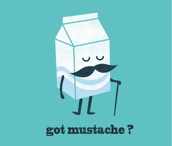 Got mustache? Metal Travel Mug