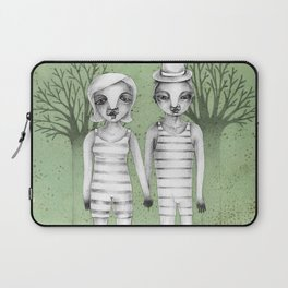 gymnast couple in the forest Laptop Sleeve