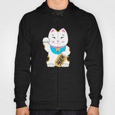 Maneki-neko good luck cat pattern Hoody