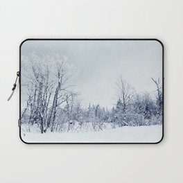 Freezing trees in a winterland decor Laptop Sleeve