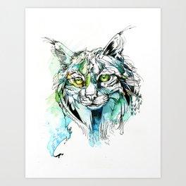 Lynx Lines Art Print