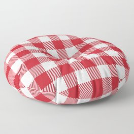 Buffalo Plaid - Red & White Floor Pillow