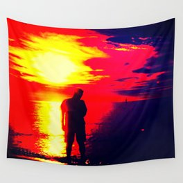 A Shadow Of Man Wall Tapestry