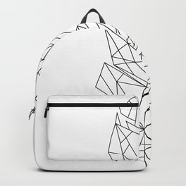 Geometric Feather Backpack