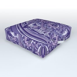 Great Purple Mandala Outdoor Floor Cushion