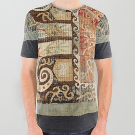 Kaitag 18th Century Caucasian Embroidery Print All Over Graphic Tee