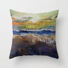 California Waves Throw Pillow