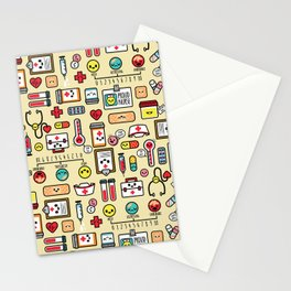 """""""Proud To Be A Nurse"""" Pattern Stationery Cards"""