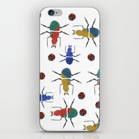 insects iPhone & iPod Skins featuring playful insects by Lydia Coventry
