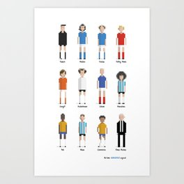 All-time Greatest Squad Art Print