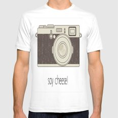 Say Cheese Mens Fitted Tee MEDIUM White