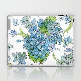 Blue Hydrangea Watercolor Laptop & iPad Skin