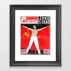 LENNIE IS DEAD Framed Art Print