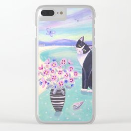 Cat in Cornwall Clear iPhone Case