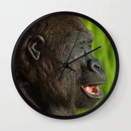 Gorilla Lope In The Sunshine Wall Clock