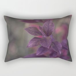 Purple Autumn Leaves Rectangular Pillow