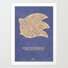 Sonic the Hedgehog Typography Art Print