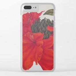 Spathodea Campanulata Clear iPhone Case