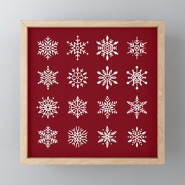 Winter Snowflakes Framed Mini Art Print