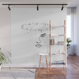 Face with space crown - Joy Halo Wall Mural