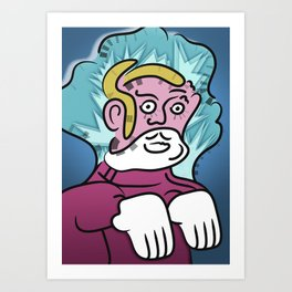 Uncle Zombie Art Print