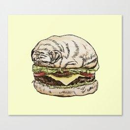 Pug Burger Canvas Print