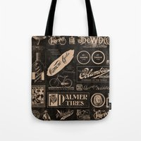 cycling Tote Bags featuring Re. Cycling by NOT MY TYPE