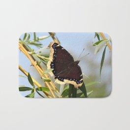 Mourning Cloak Butterfly Sunning Bath Mat