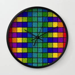 Sponged Chex Wall Clock