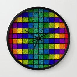 Sponged Chex Wall Clock