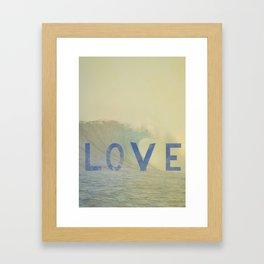 love surf Framed Art Print