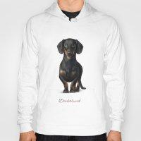 dachshund Hoodies featuring Dachshund by Gosia