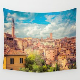 A View of Siena Italy Wall Tapestry